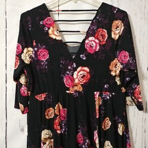 f9e7a87a254 torrid Dresses - NWT Torrid 2 Black Floral Studio Knit Skater Dress